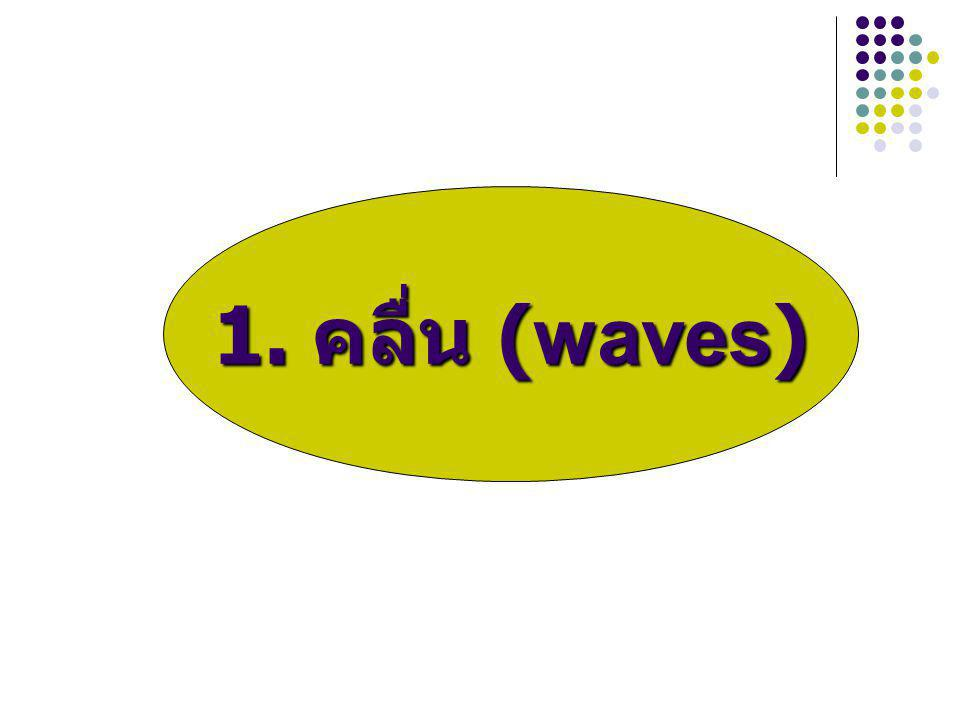 1. คลื่น (waves)