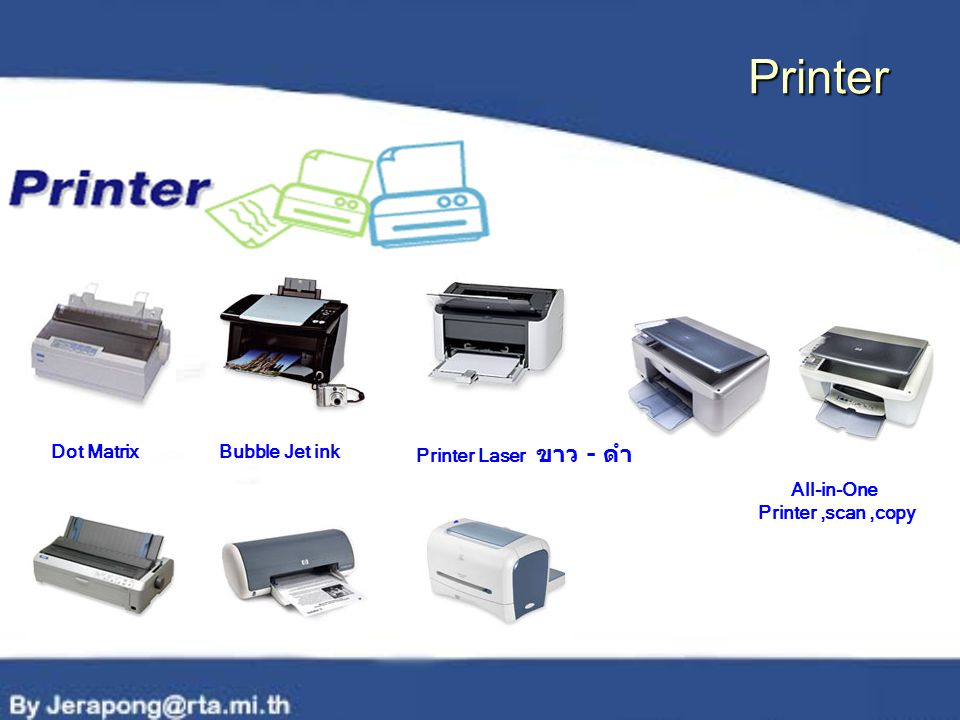 All-in-One Printer,scan,copy Bubble Jet inkDot Matrix Printer Laser ขาว - ดำ Printer