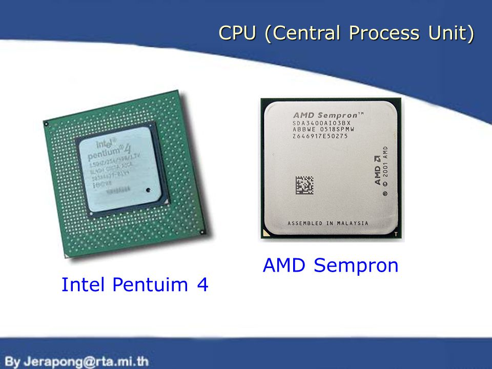 CPU (Central Process Unit) Intel Pentuim 4 AMD Sempron