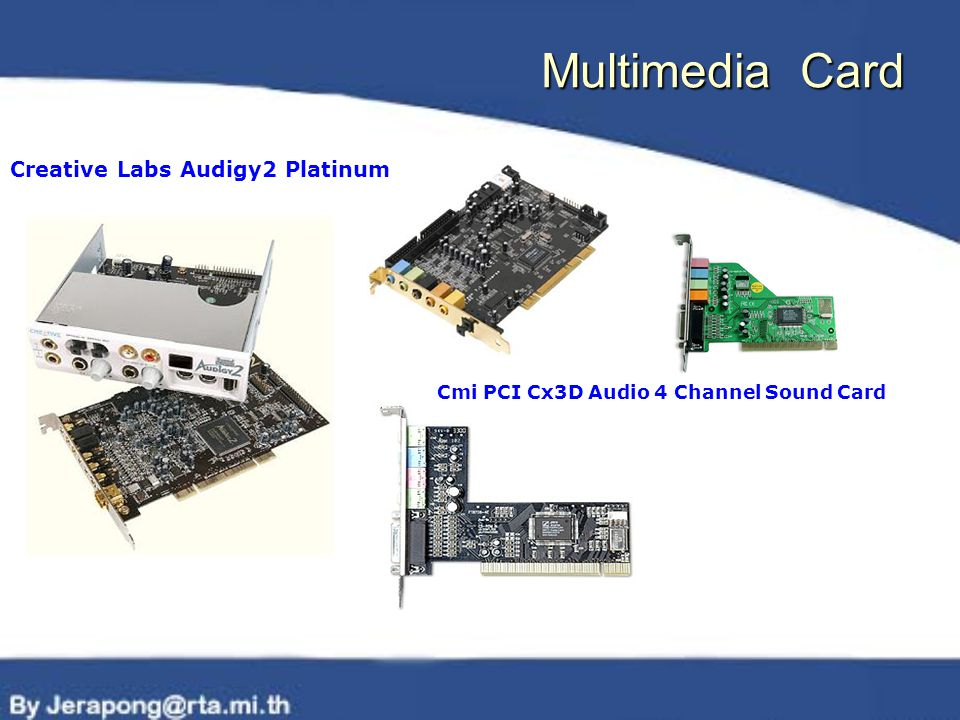 Multimedia Card Cmi PCI Cx3D Audio 4 Channel Sound Card Creative Labs Audigy2 Platinum