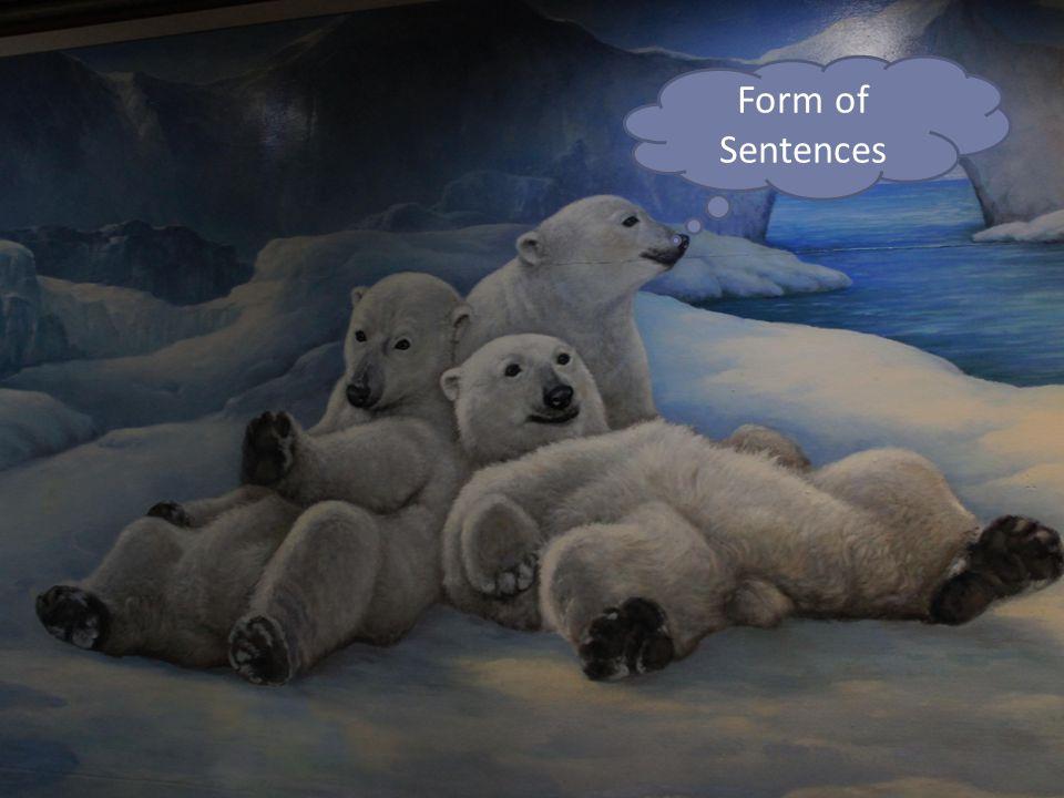 - รูปแบบประโยคต่าง ๆ ในภาษาอังกฤษ 1.