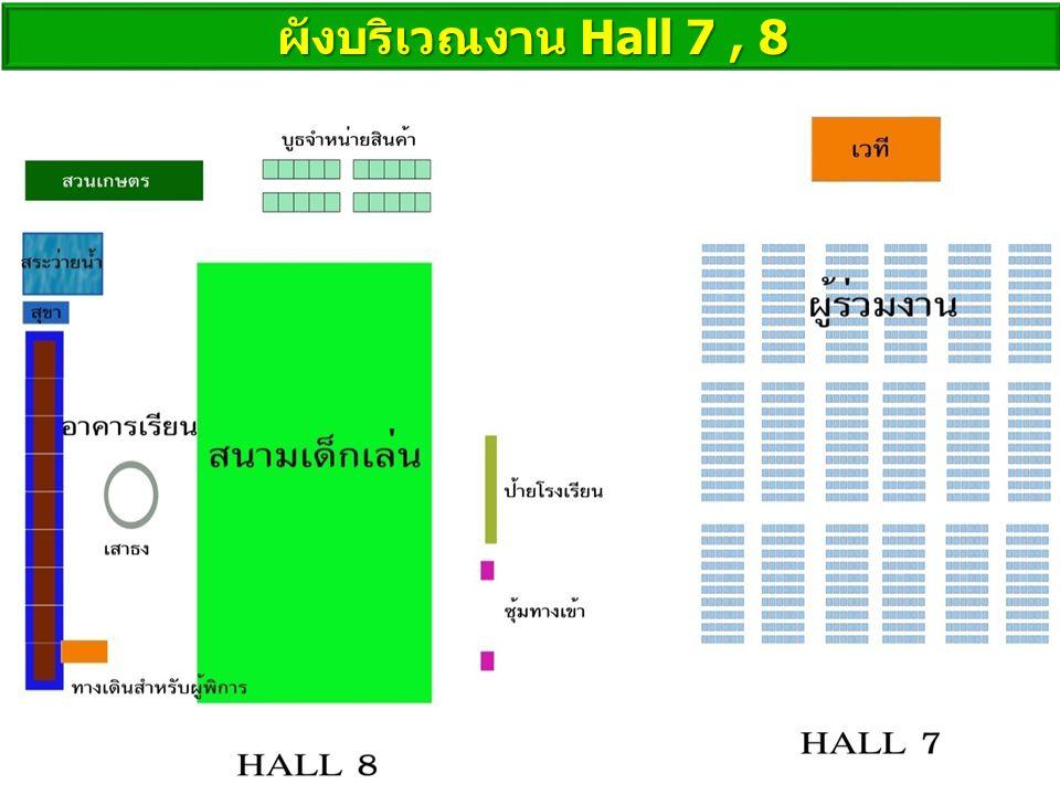 ผังบริเวณงาน Hall 7, 8