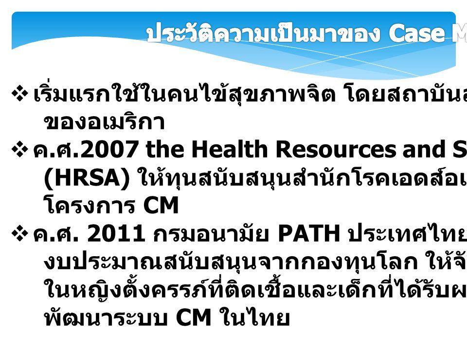  เริ่มแรกใช้ในคนไข้สุขภาพจิต โดยสถาบันสุขภาพแห่งชาติ ของอเมริกา  ค. ศ.2007 the Health Resources and Services Administration (HRSA) ให้ทุนสนับสนุนสำน