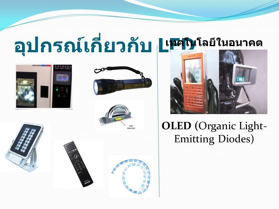อุปกรณ์เกี่ยวกับ LED OLED (Organic Light- Emitting Diodes) เทคโนโลยีในอนาคต