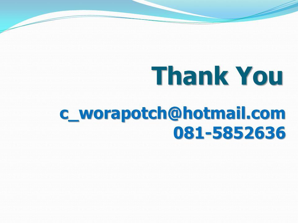 Thank You c_worapotch@hotmail.com081-5852636