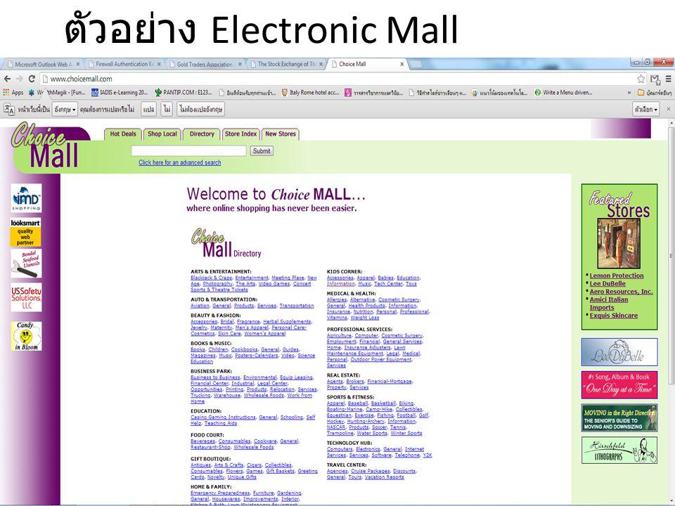2.2 แนะนำการค้าปลีก อิเล็กทรอนิกส์ สินค้าและบริการที่จะประยุกต์ใช้กับ E-Retailing ควรมีลักษณะที่โดดเด่น ดังนี้ 1.
