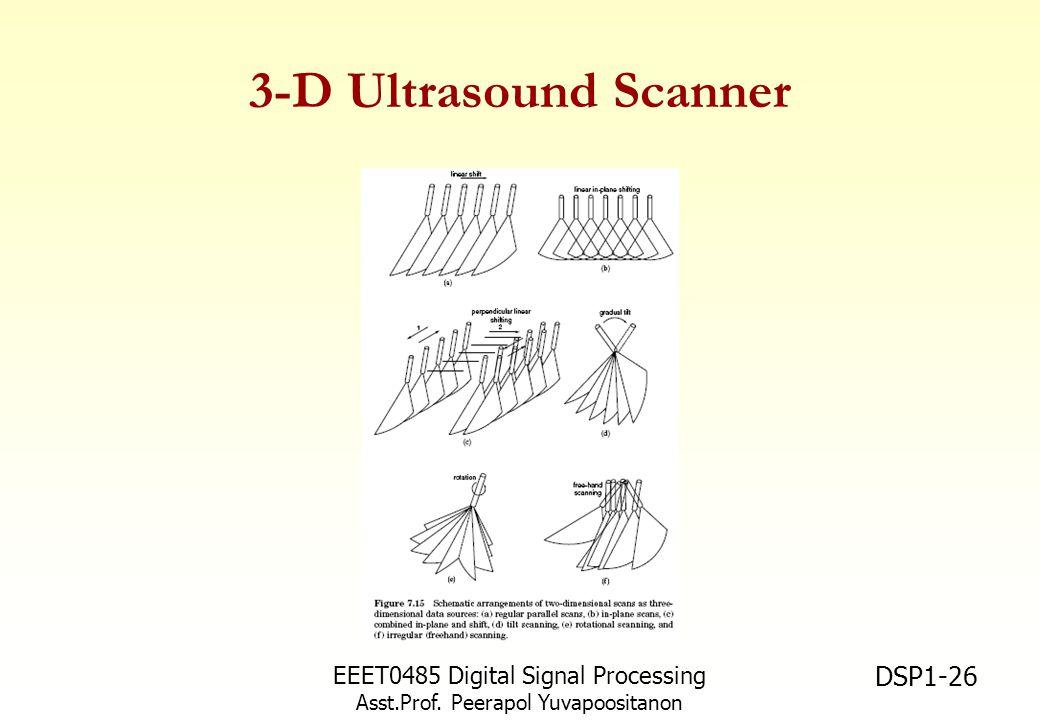EEET0485 Digital Signal Processing Asst.Prof. Peerapol Yuvapoositanon DSP1-26 3-D Ultrasound Scanner