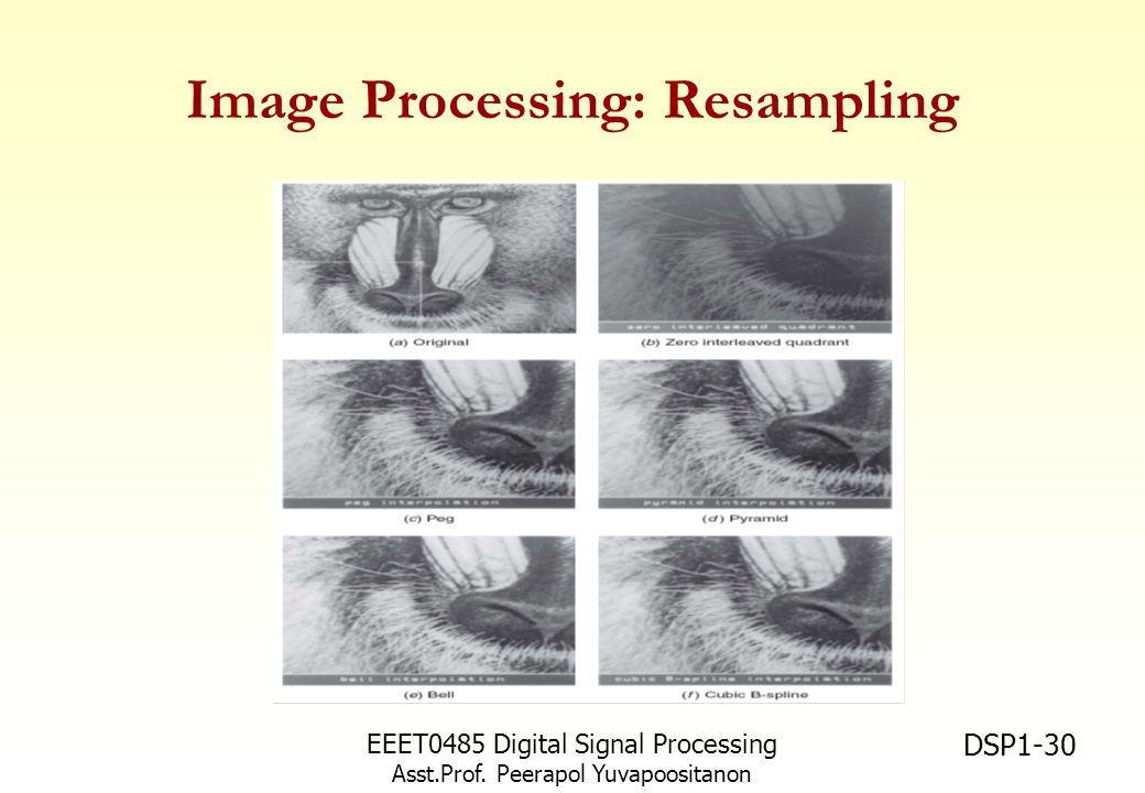 EEET0485 Digital Signal Processing Asst.Prof. Peerapol Yuvapoositanon DSP1-30 Image Processing: Resampling