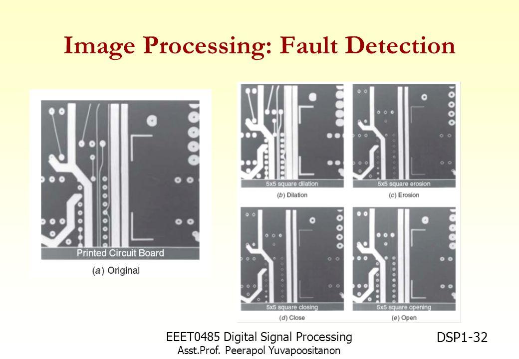 EEET0485 Digital Signal Processing Asst.Prof. Peerapol Yuvapoositanon DSP1-32 Image Processing: Fault Detection
