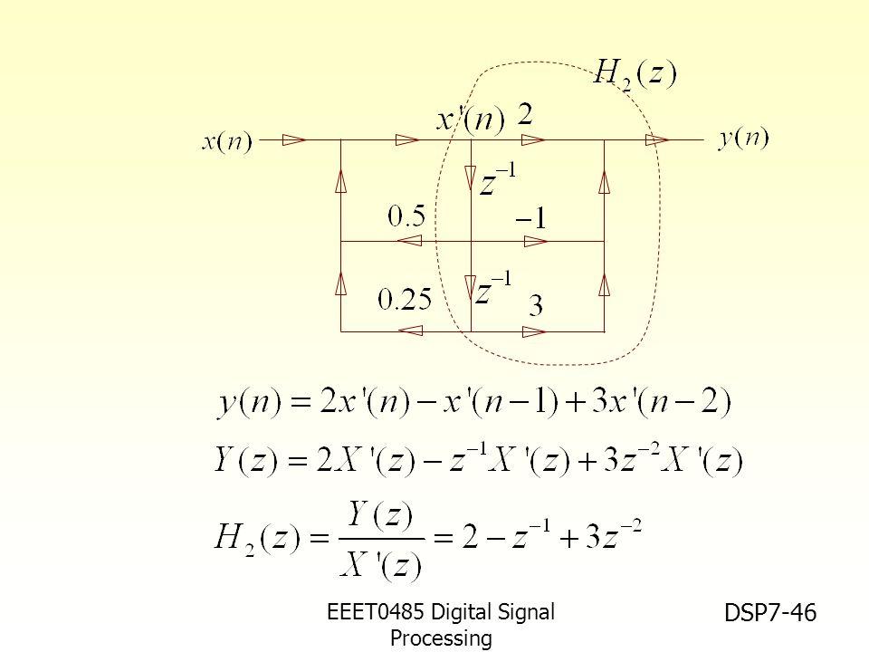 EEET0485 Digital Signal Processing Asst.Prof. Peerapol Yuvapoositanon DSP7-46