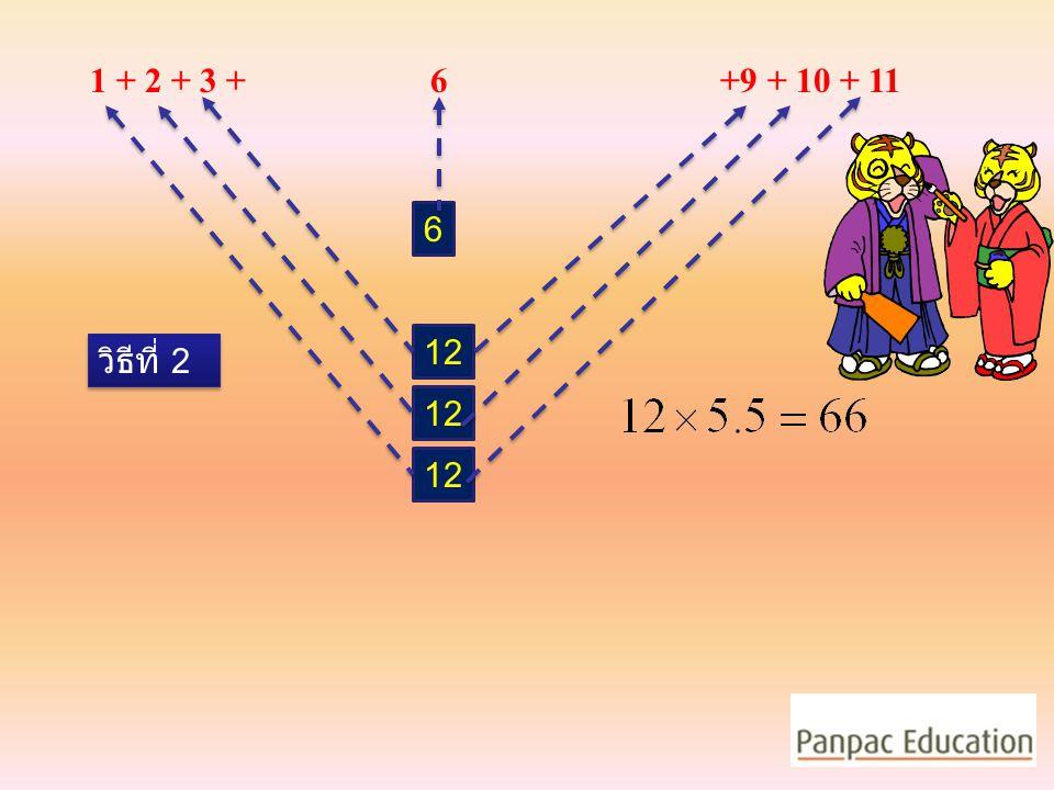 1 + 2 + 3 + 5 … 6 + 8 +9 + 10 + 11 11 วิธีที่ 1