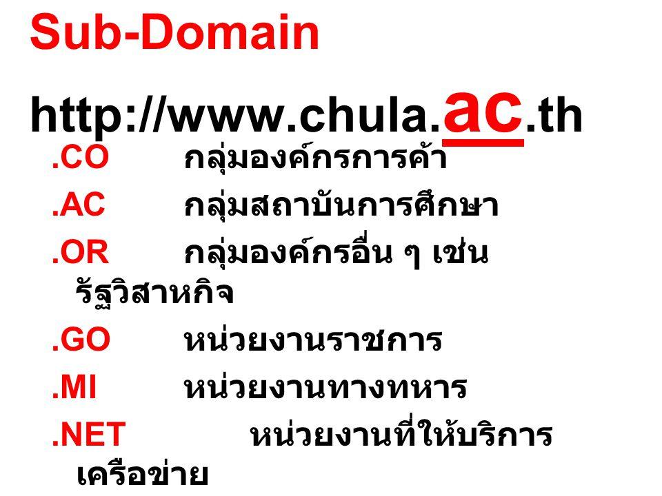 Sub-Domain http://www.chula.
