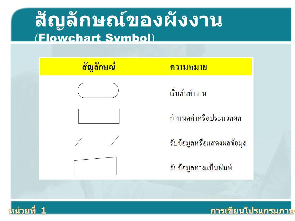 สัญลักษณ์ของผังงาน (Flowchart Symbol)
