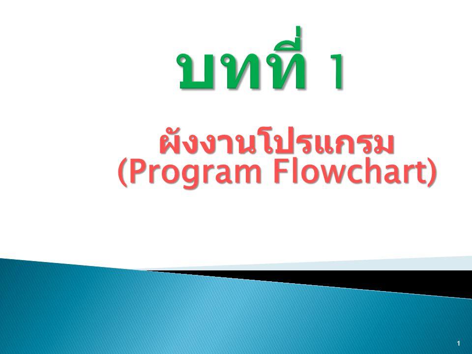 ผังงานโปรแกรม (Program Flowchart) 1