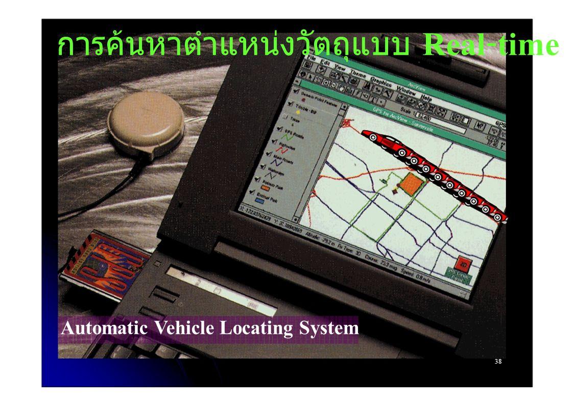 การค้นหาตำแหน่งวัตถุแบบ Real - time Automatic Vehicle Locating System 38