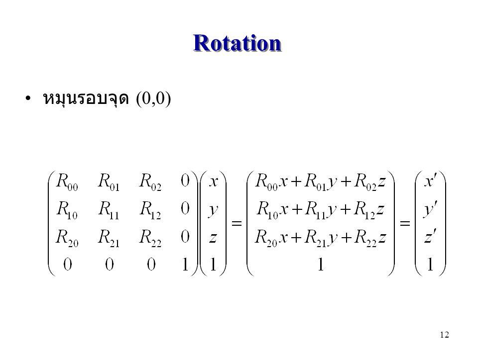 Rotation หมุนรอบจุด (0,0) 12
