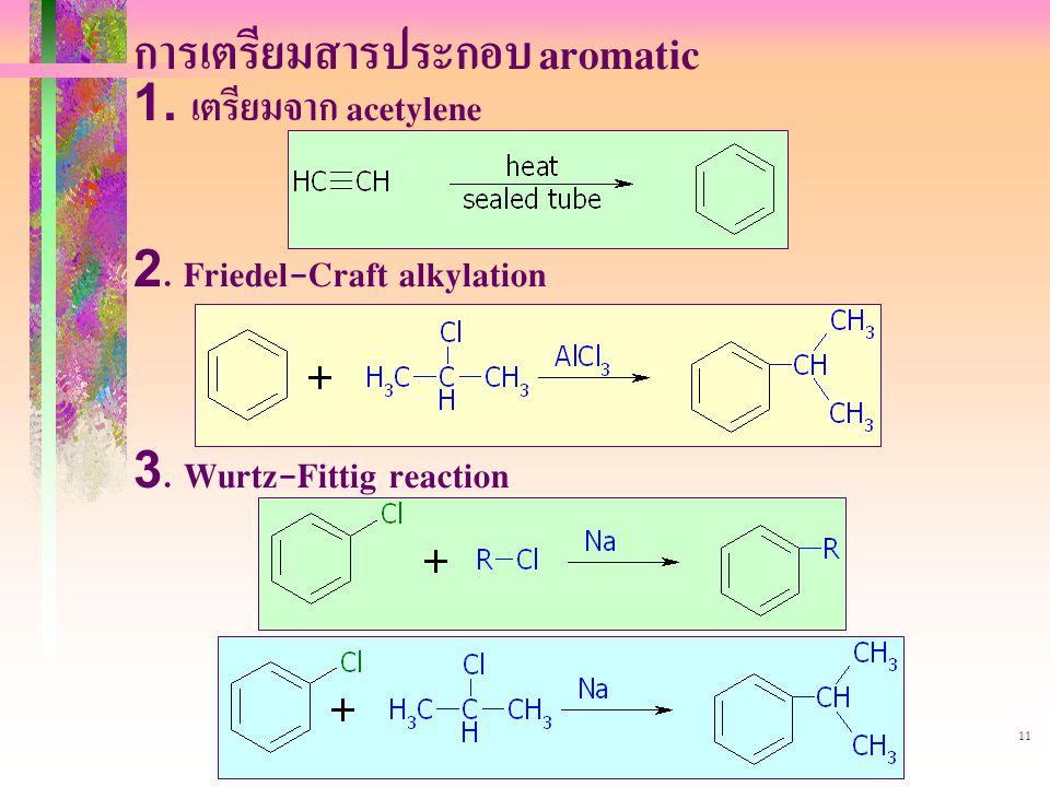 403221-aromatic11 การเตรียมสารประกอบ aromatic 1.เตรียมจาก acetylene 2.