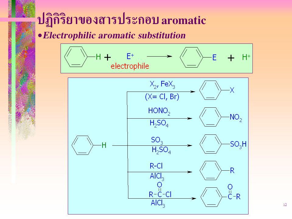 403221-aromatic12 ปฏิกิริยาของสารประกอบ aromatic Electrophilic aromatic substitution