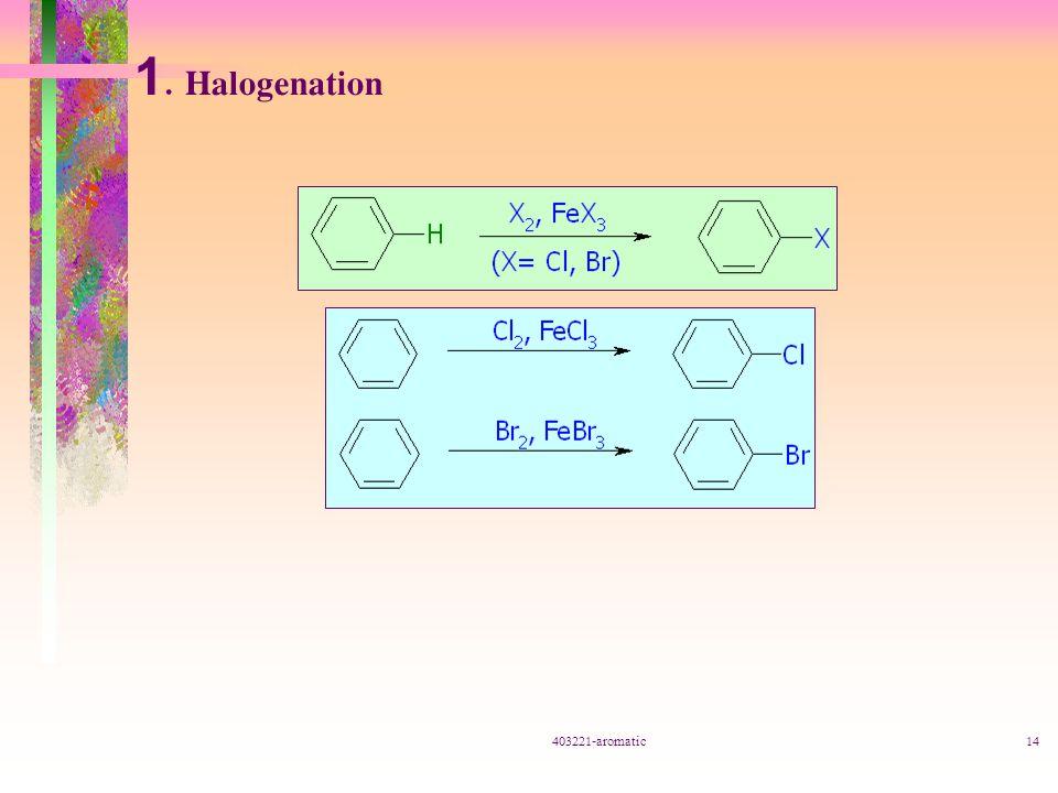 403221-aromatic14 1. Halogenation