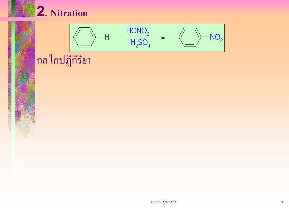 403221-aromatic16 2. Nitration กลไกปฏิกิริยา