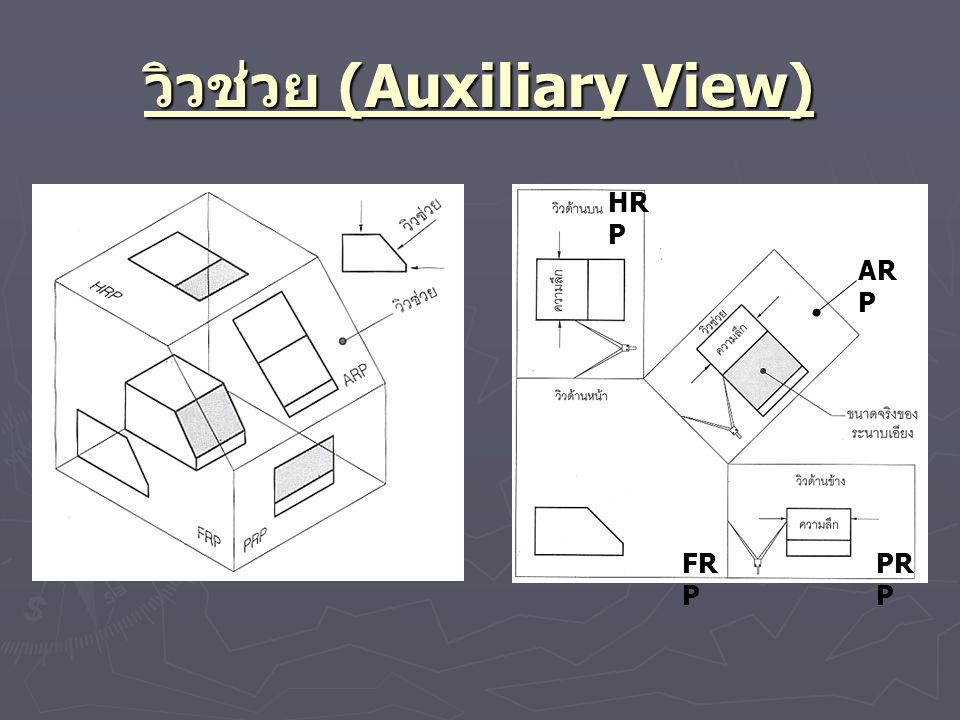 วิวช่วย (Auxiliary View) AR P FR P PR P HR P