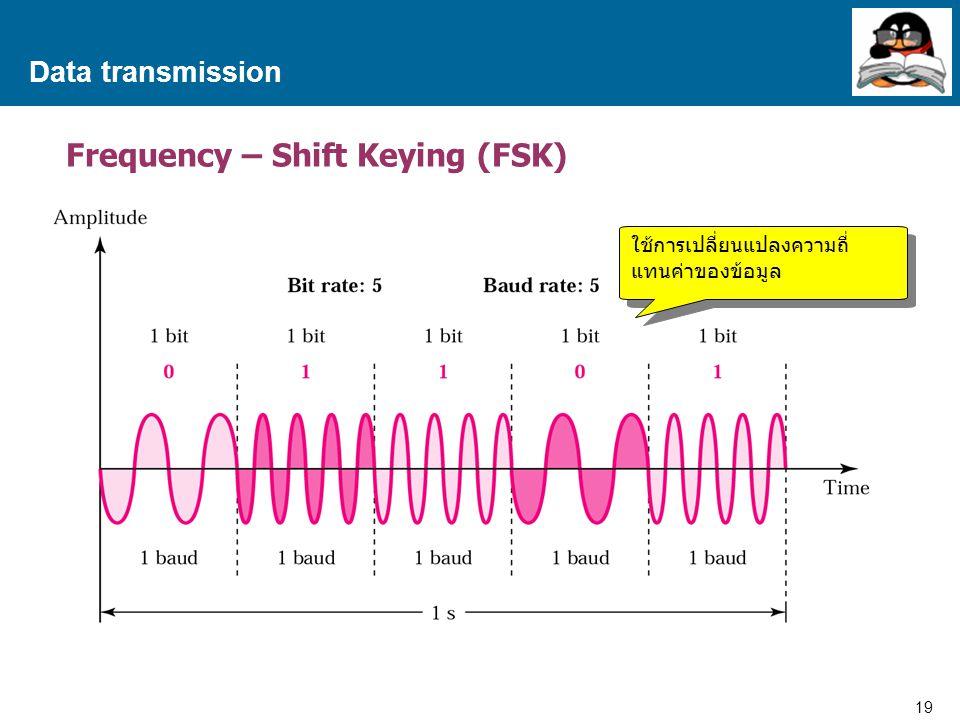 19 Proprietary and Confidential to Accenture Data transmission Frequency – Shift Keying (FSK) ใช้การเปลี่ยนแปลงความถี่ แทนค่าของข้อมูล