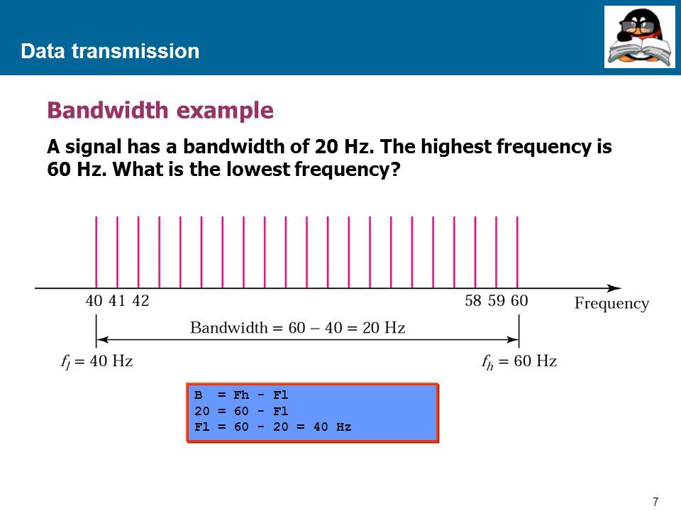 28 Proprietary and Confidential to Accenture Data transmission Transmission Impairment Thermal Noise - สัญญาณรบกวนที่เกิดจากอุณหภูมิของ สภาพแวดล้อมที่เปลี่ยนแปลงไป เมื่ออุณหภูมิ สูงขึ้นจะทำให้สัญญาณรบกวนแรงขึ้น No = kT (watts/Hertz) No = Noise Power density k = Boltzmann ' s constant = 1.3803 x 10 -23 J/Kelvin T = Temperature (Kelvin)