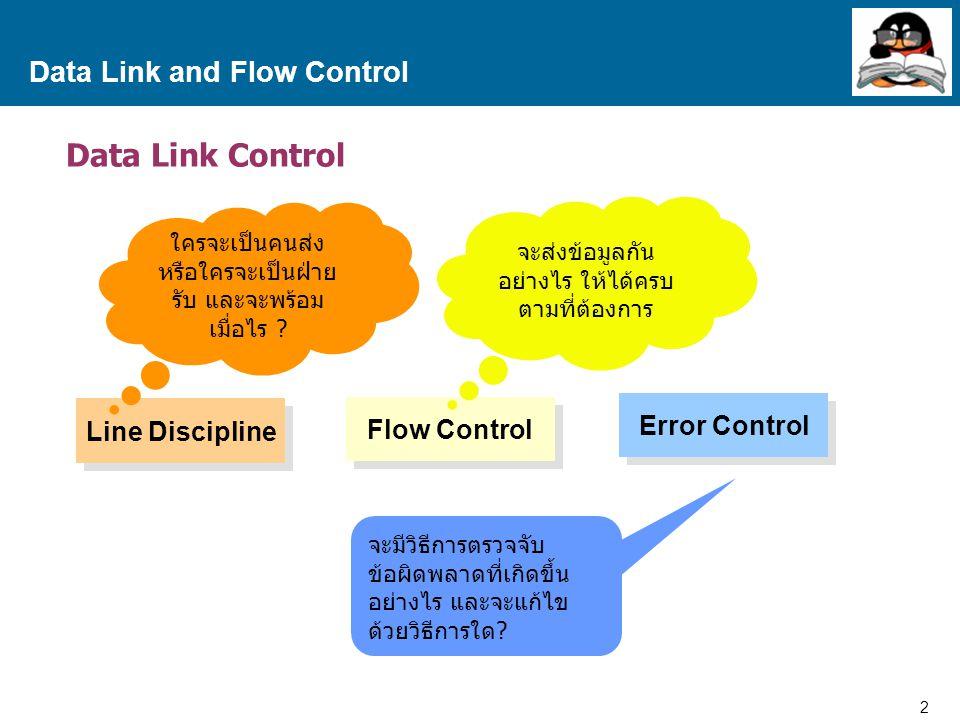 3 Proprietary and Confidential to Accenture Data Link and Flow Control Point-to-Point Timing T ack T frame T proc AB Frame ACK T prop เป็นเวลาที่ใช้ในการส่งข้อมูลผ่านสื่อ จากจุด A มายังจุด B เป็นเวลาที่ใช้ในการส่งข้อมูล 1 Frame เป็นเวลาที่ใช้ในการประมวลผลข้อมูล ที่รับมา เป็นเวลาที่ใช้ในการส่งข้อมูลเพื่อตอบกลับ T F = T frame + 2T prop TFTF Time T ack, T proc มีค่าเข้าใกล้ 0