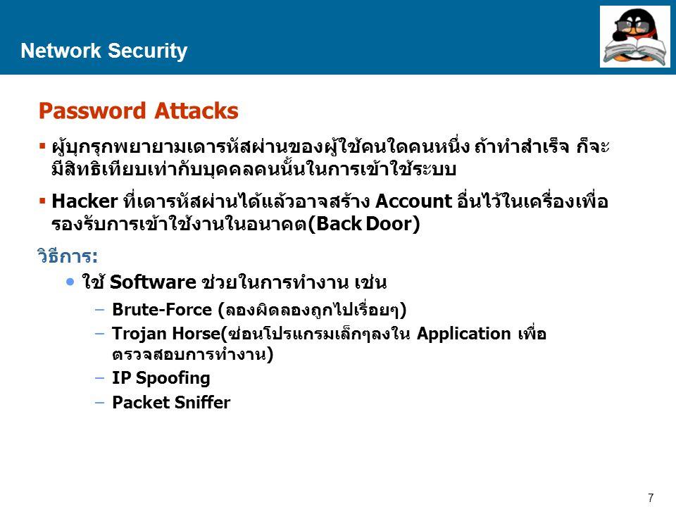 28 Proprietary and Confidential to Accenture Network Security RSA RSA มาจากชื่อผู้พัฒนาคือ Rivest, Sharmir และ Adlemen Key สำหรับแจกจ่ายให้กับบุคคลอื่น เรียกว่า Public Key Key สำหรับให้เจ้าของKeyเก็บไว้ห้ามเปิดเผย เรียกว่า Private Key ข้อมูลที่เข้ารหัสด้วย Public Key จะถอดรหัสได้โดยใช้ Private Key ที่เป็นคู่กันเท่านั้น ผู้ที่ต้องการส่งข้อมูลจะใช้ Public Key ของผู้รับปลายทาง(ซึ่ง แจกจ่ายเป็นสาธารณะ) มาใช้ในการเข้ารหัส ซึ่งจะมีเพียง Private Key ที่เป็นคู่กันเท่านั้นที่สามารถถอดรหัส และเปิดข้อมูลนี้ได้