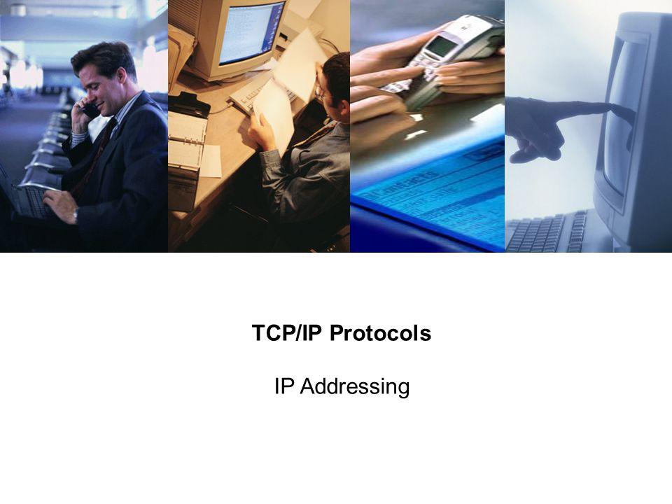 TCP/IP Protocols IP Addressing