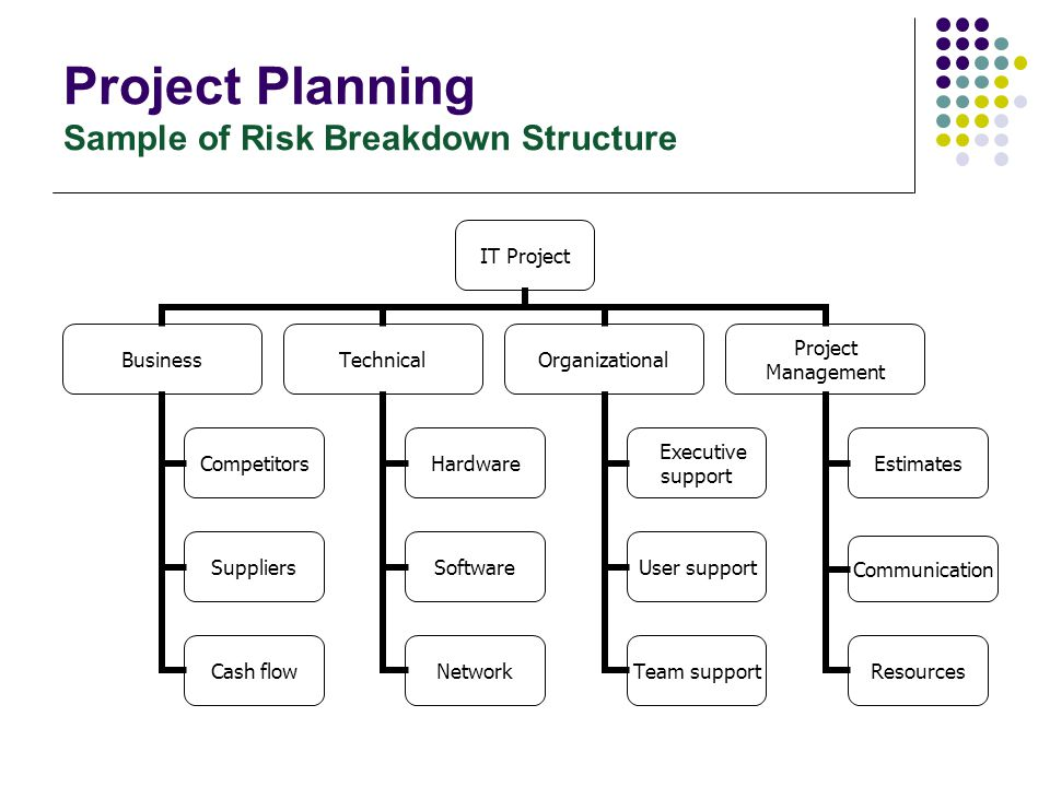 Project Planning Risk Management If you don't actively attack the risks The risks will actively attack you.