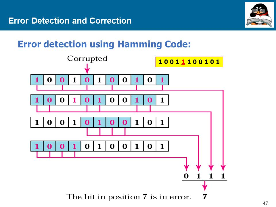 47 Proprietary and Confidential to Accenture Error Detection and Correction Error detection using Hamming Code: 1 0 0 1 1 1 0 0 1 0 1