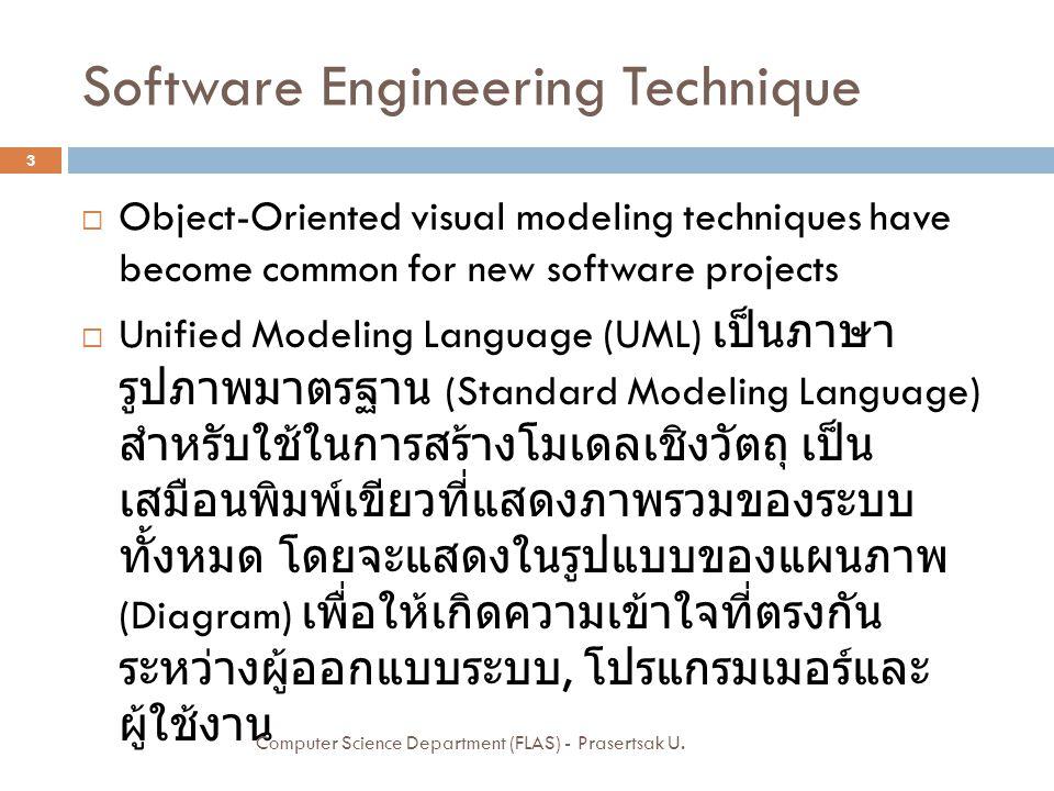 Sample Sequence Diagram 24 Computer Science Department (FLAS) - Prasertsak U.