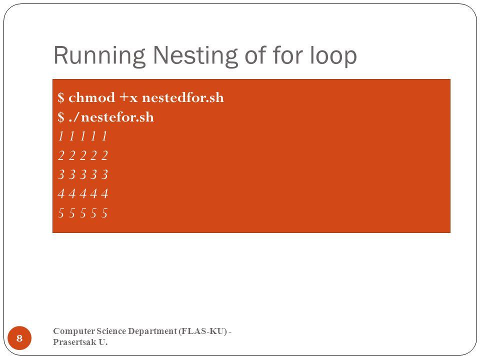 while Loop Computer Science Department (FLAS-KU) - Prasertsak U.