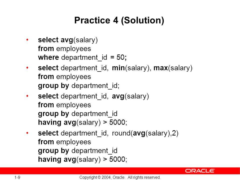 1-10 Copyright © 2004, Oracle.All rights reserved.