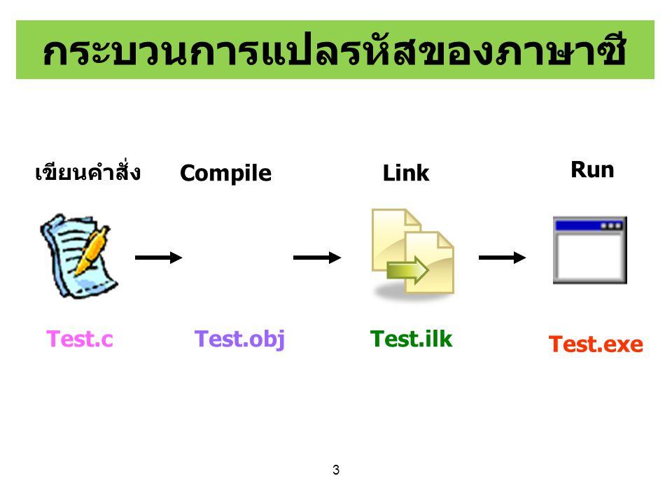 รูปแบบโครงสร้าง ภาษาซี