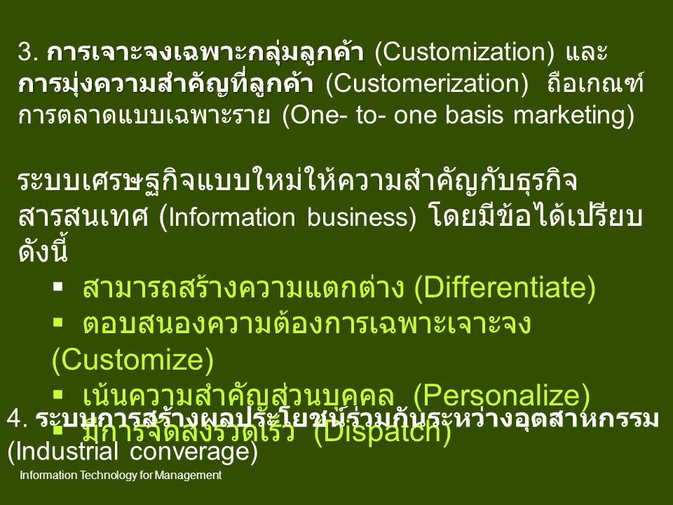 การตลาดรูปแบบของธุรกิจอิเลกทรอนิกส์ E-commerce E-Business E-marketing E-purchasing E-book E-learning Information Technology for Management