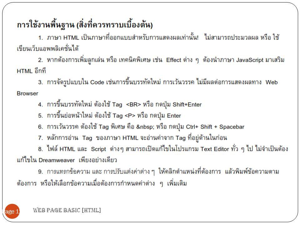 Web page basic [HTML] Page 12