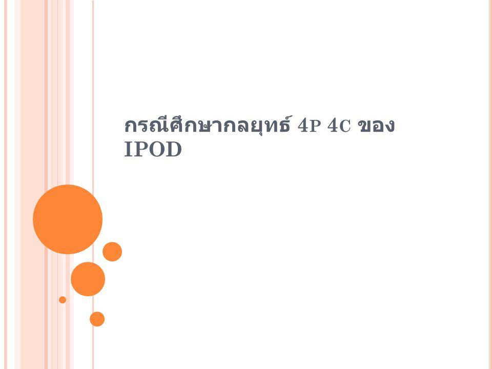 กรณีศึกษากลยุทธ์ 4 P 4 C ของ IPOD