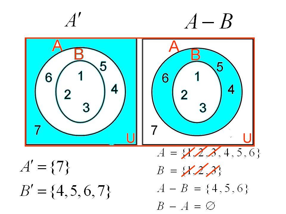 A={ 1,2,3,4 } B={ 4,5,6,7 }