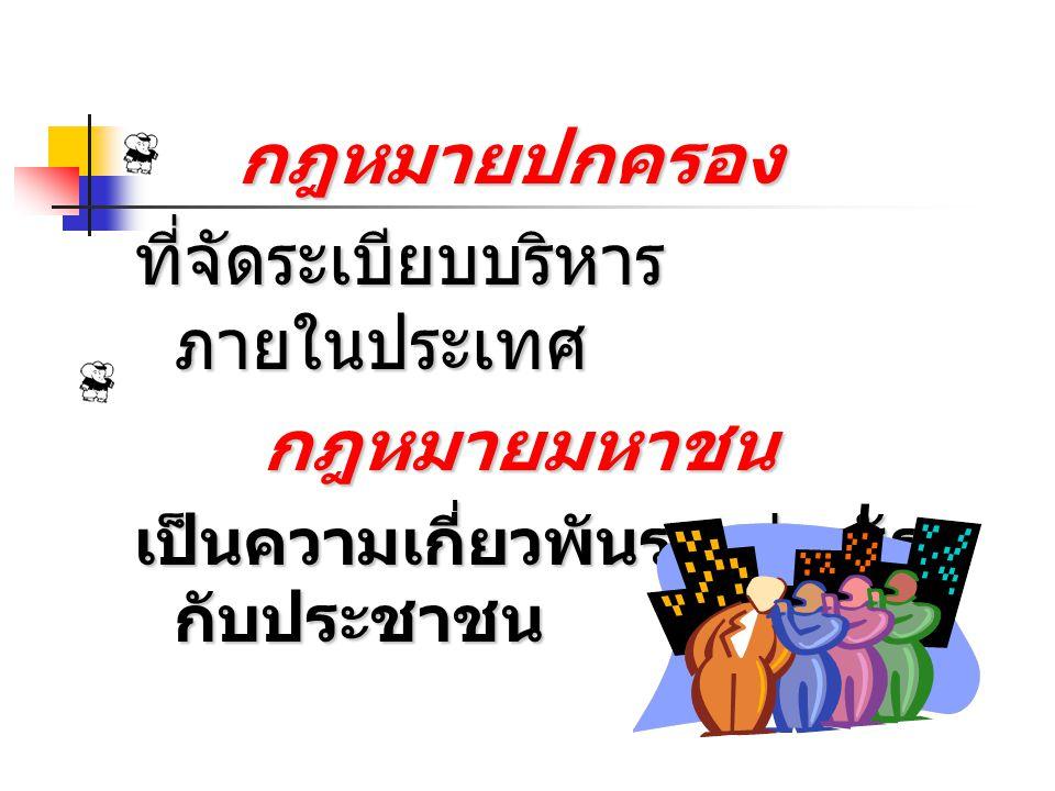 รัฐธรรมนูญ เป็นกฎหมาย สูงสุดของ ประเทศไทย รัฐธรรมนูญ เป็นกฎหมาย สูงสุดของ ประเทศไทย เป็นกฎหมาย แม่บทที่ กฎหมายอื่น จะมี บทบัญญัติ ขัดหรือแย้ง มิได้ เป