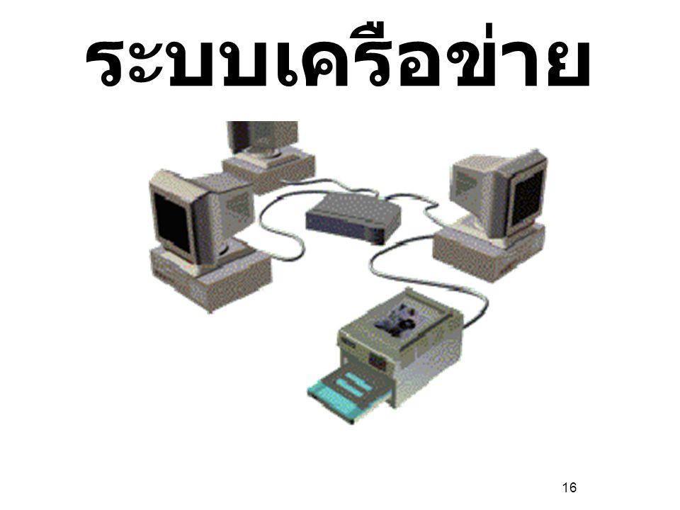16 ประเภทของ ระบบเครือข่าย