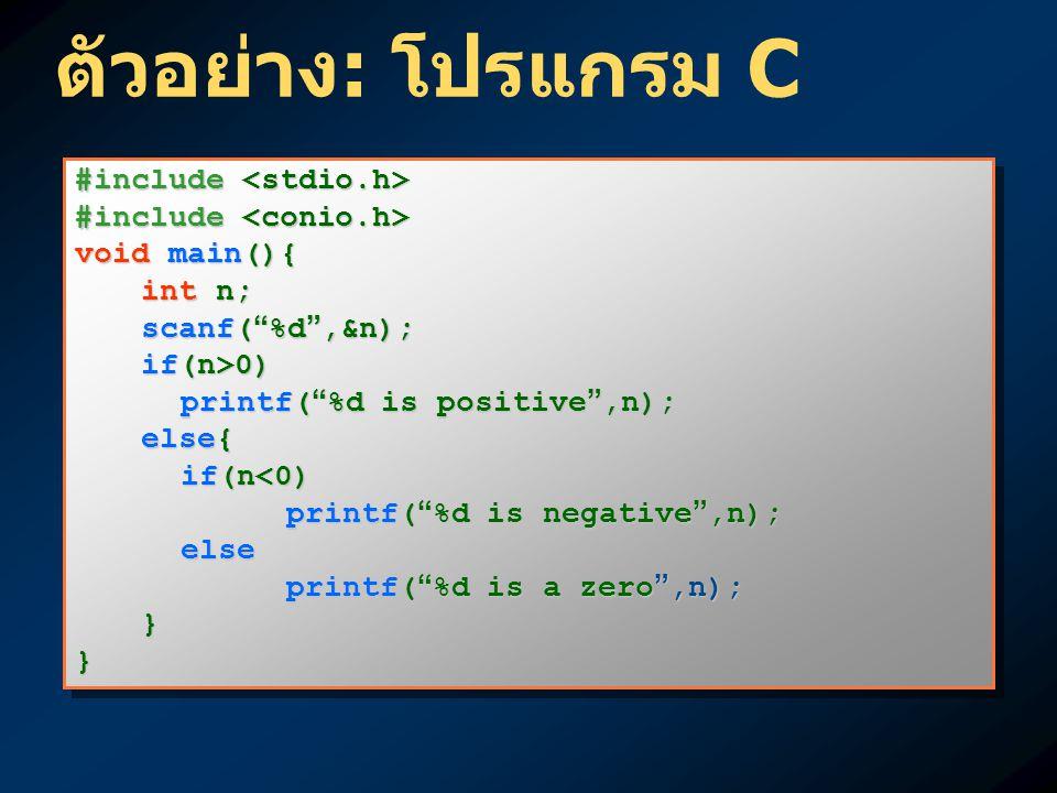"""#include #include void main(){ int n; scanf( """" %d """",&n); if(n>0) printf( """" %d is positive """",n); else{ if(n<0) printf( """" %d is negative """",n); else prin"""