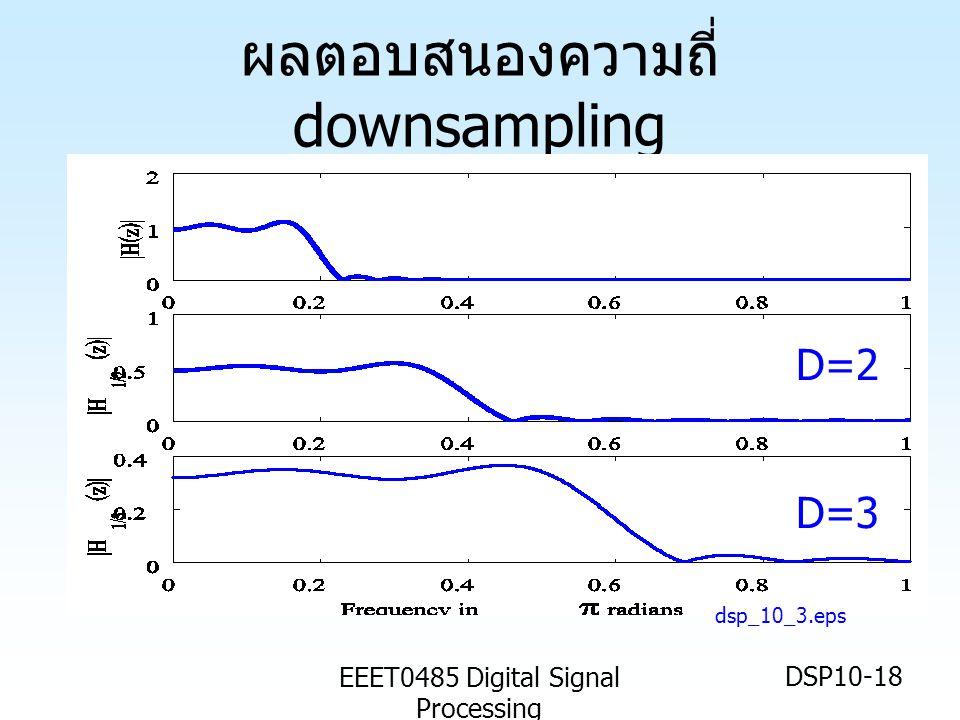 EEET0485 Digital Signal Processing DSP10-18 ผลตอบสนองความถี่ downsampling dsp_10_3.eps D=2 D=3