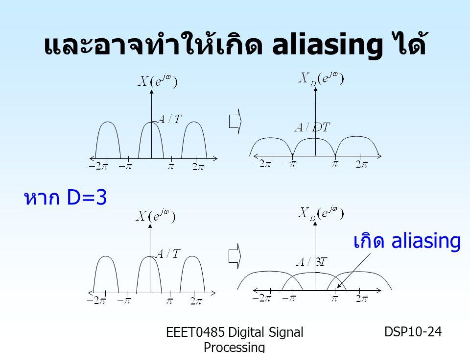 EEET0485 Digital Signal Processing DSP10-24 และอาจทำให้เกิด aliasing ได้ เกิด aliasing หาก D=3