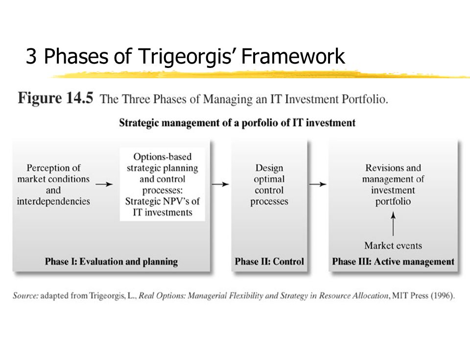 3 Phases of Trigeorgis' Framework