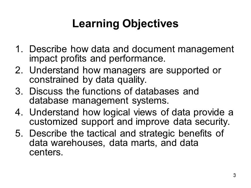 3.1 Data, Master Data, and Document Management 14