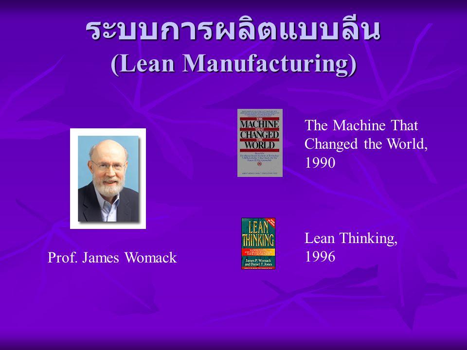 ระบบการผลิตแบบลีน (Lean Manufacturing) Prof. James Womack The Machine That Changed the World, 1990 Lean Thinking, 1996