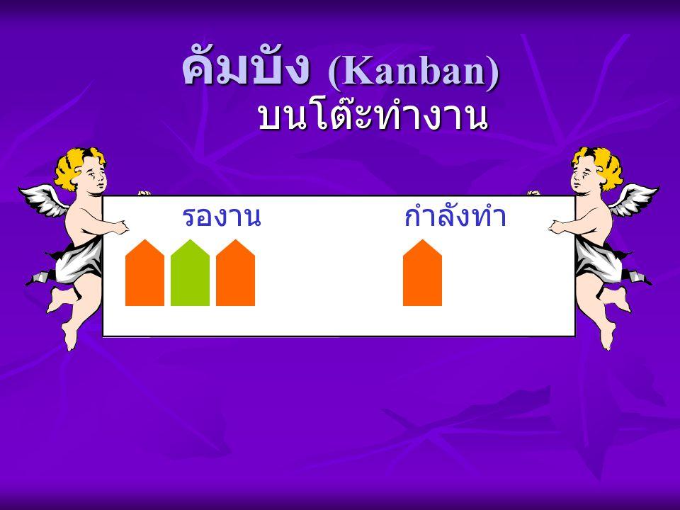 คัมบัง (Kanban) รองานกำลังทำ บนโต๊ะทำงาน
