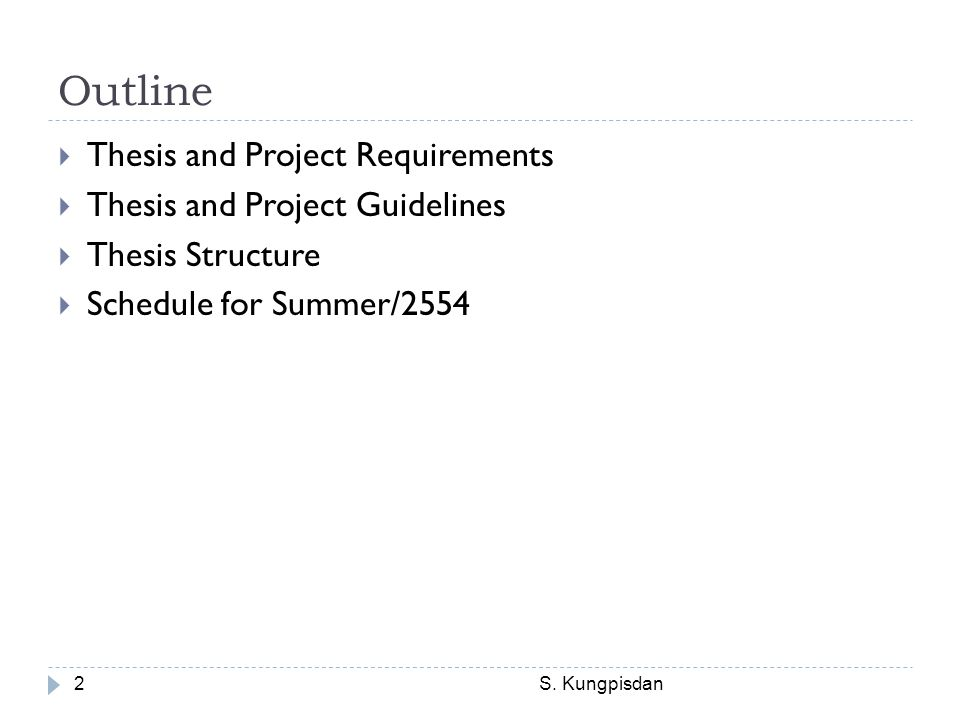Thesis Requirements S.